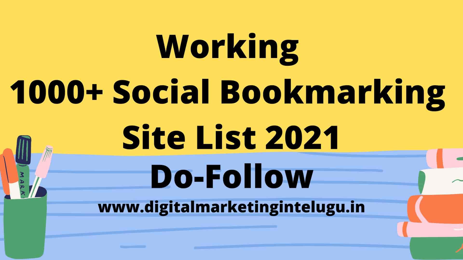1000 social bookmarking sites list