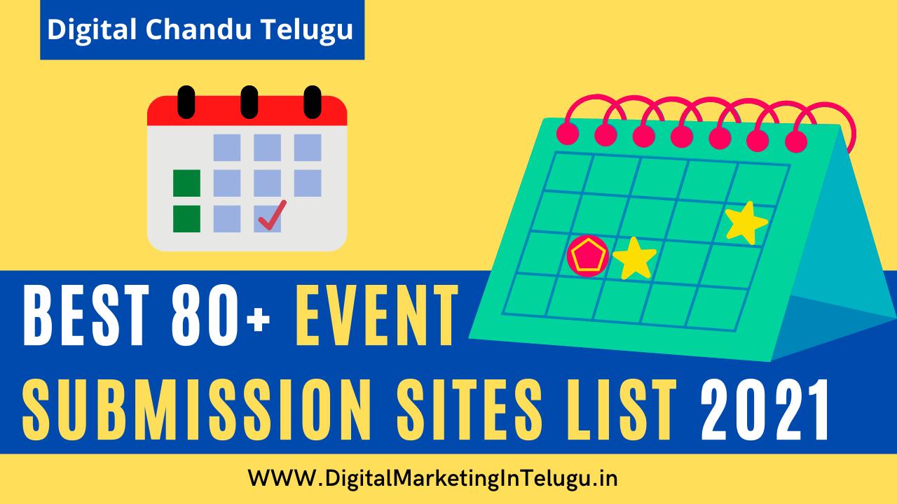 Event Submission Sites List