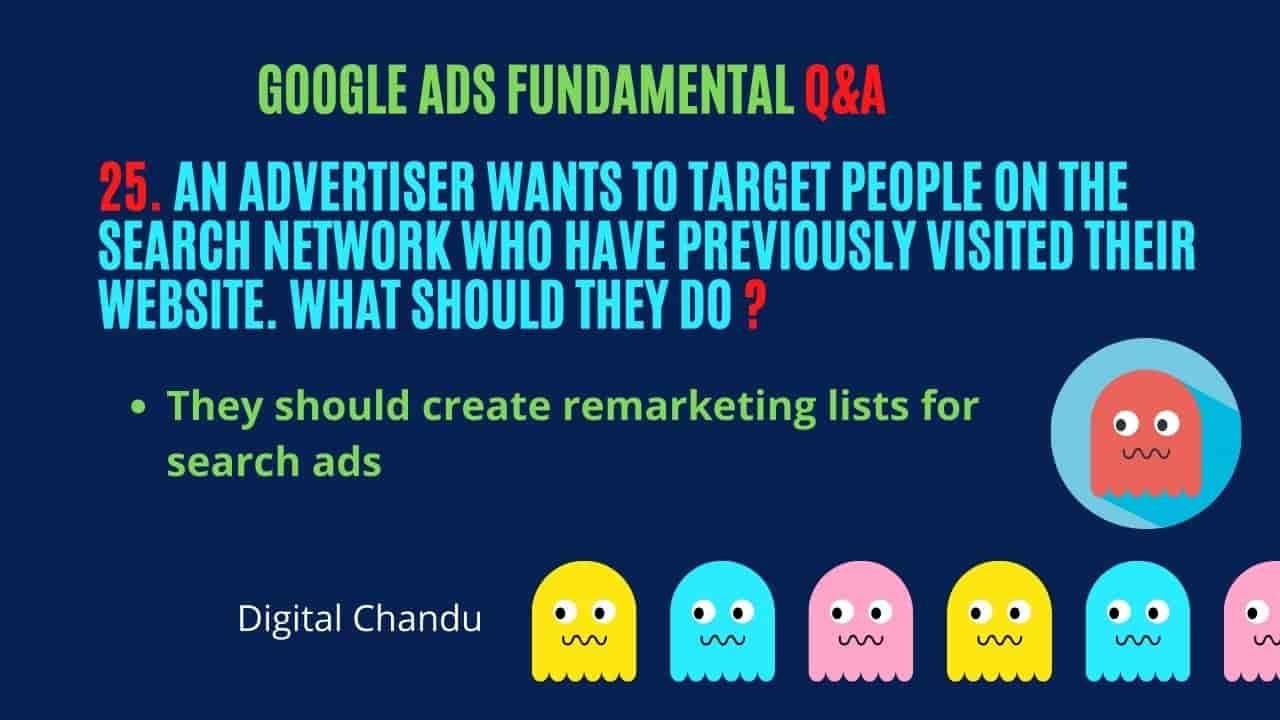 Google Ads Examination Answers
