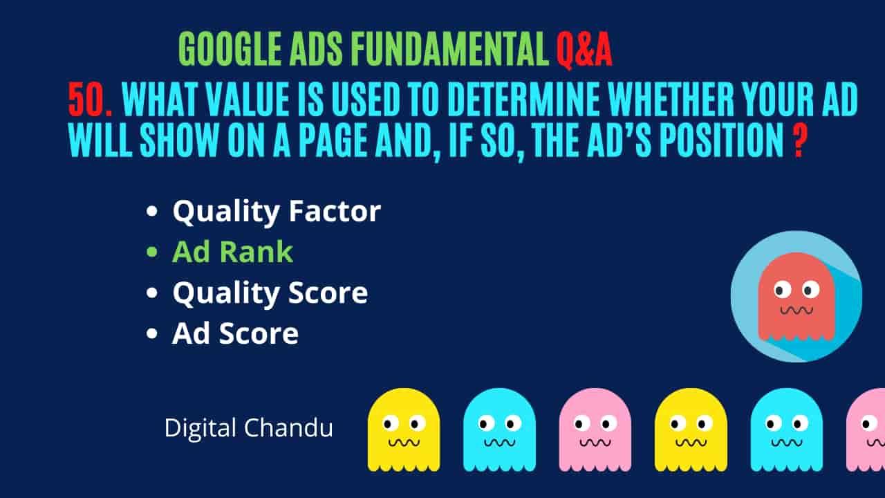 Google Ads AD Rank