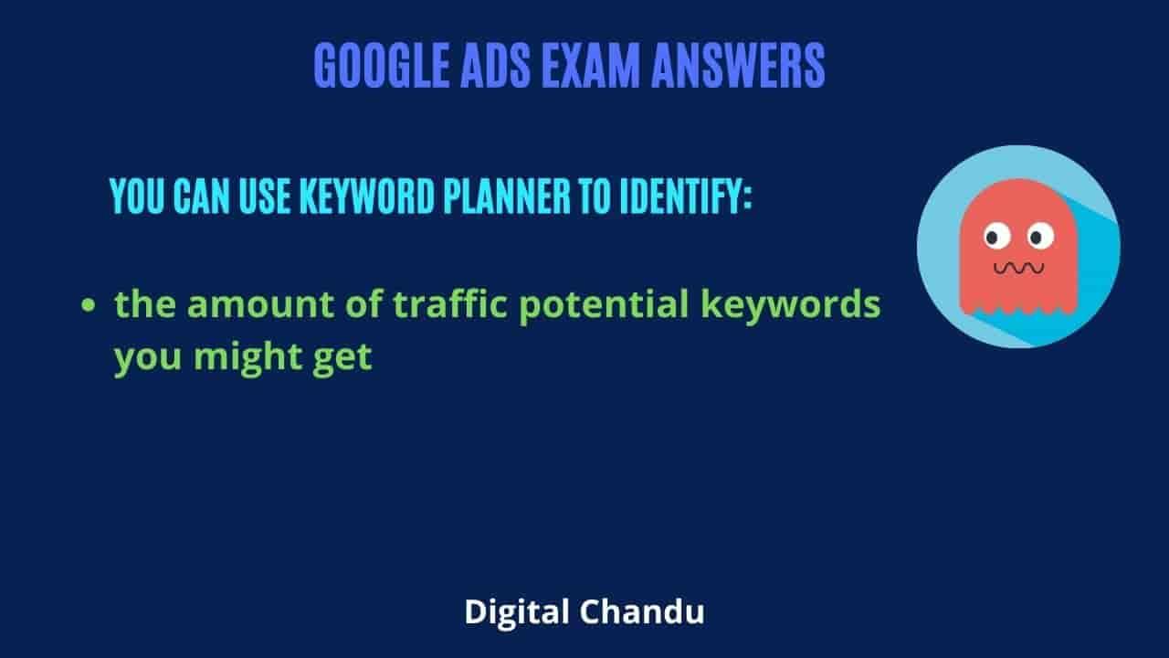 Keyword Planner to identify