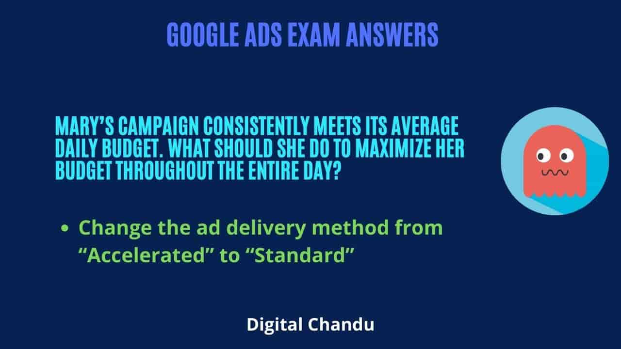 """Change the ad delivery method from """"Accelerated"""" to """"Standard"""""""