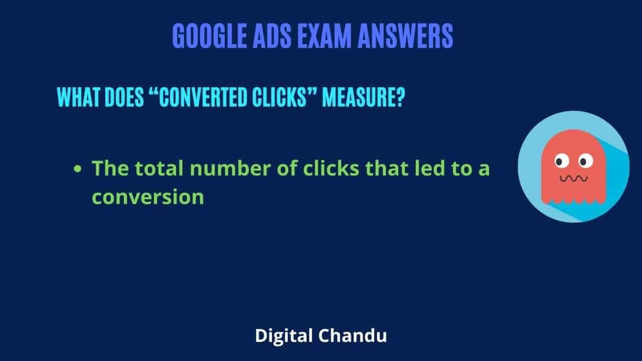 """What does """"converted clicks"""" measure?"""