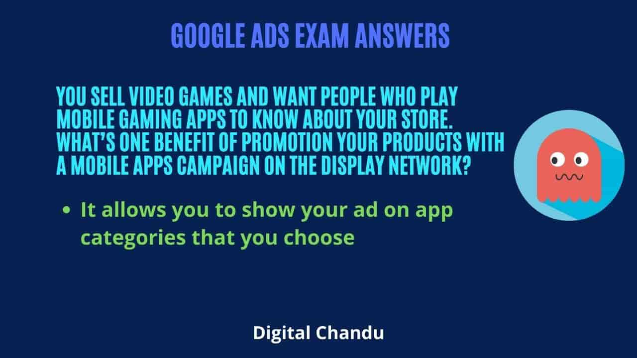 You sell video games and want people who play mobile gaming apps to know about your store