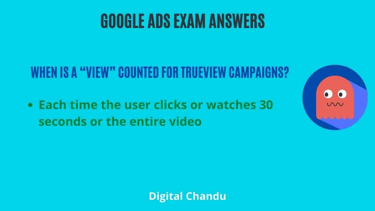 """When is a """"view"""" counted for TrueView campaigns?"""