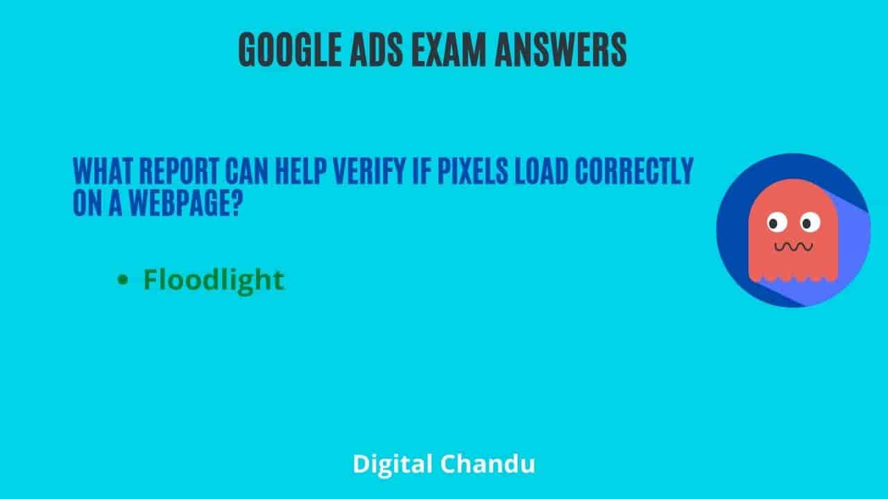 What report can help verify if pixels load correctly on a webpage?