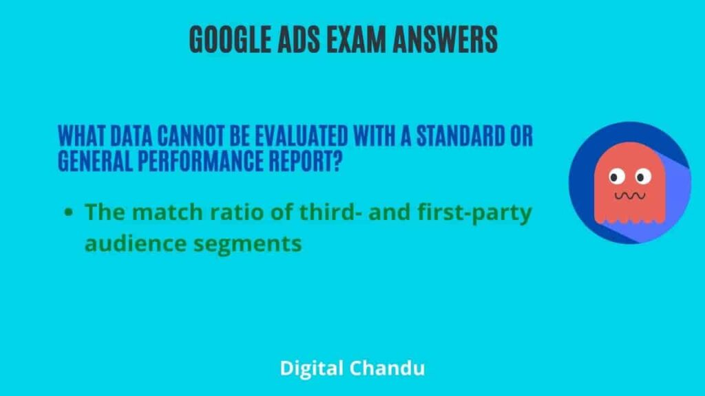 What data cannot be evaluated with a Standard or General performance report?